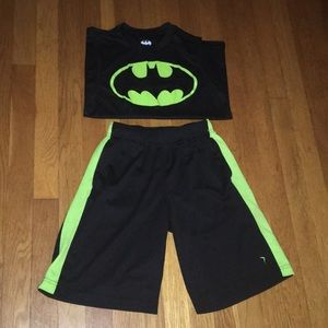 Old navy go dry size 10/12 shorts black neon